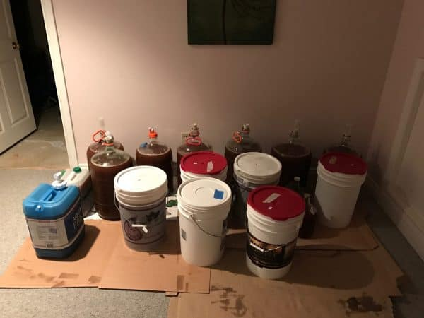 A portion of the club's cider haul, ready to be picked up in Waterloo.