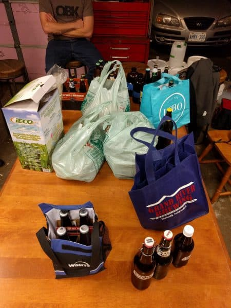 There were lots of samples to get through Wednesday night, we persevered..!