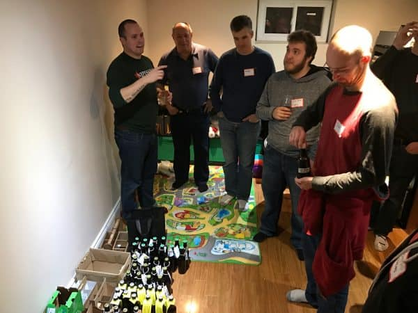 Some members listening very closely to Matt's instructions for the advent calendar exchange